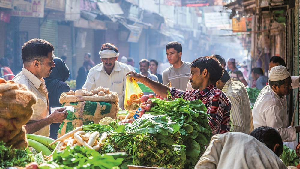 Gemüsemarkt in Neu Delhi